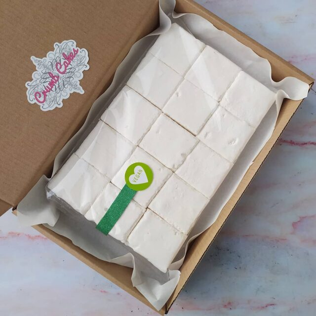 Treats by courier, or deliver in person! Here is a batch of our vegan aquafaba and vanilla bean marshmallows that made their way to their owner via courier. Nearly and safely packaged, and delivered to their doorstep 💌 #vegan #veganmarshmallows #marshmallows #aquafaba #vegan