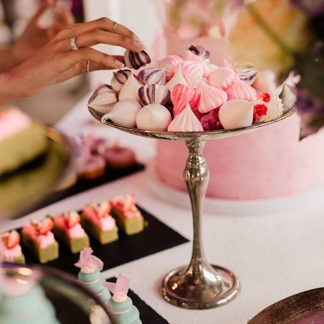 TREATS ✨✨✨ We don't just do cakes! We make an endless list of sweet treats, including custom dessert displays for any occasion!  ✨✨✨ This photo by @kovacevicbosch comes from a recent collab with @saweddings and we can't wait to share what we created. The best thing about a dessert display is that it forms part of your event's decor - anything as pretty as this needs showing off!  ✨✨✨ Here we have some CUTE meringue kisses displayed in silver candy stands from our friends at @top_table_hiring - we're very excited for the post to drop and show off this amazing shoot  ✨✨✨ #meringues #meringuekisses #sweettreats #crumb #crumbcakes #cakeme #crumbcakessa #weddings #weddinginspiration