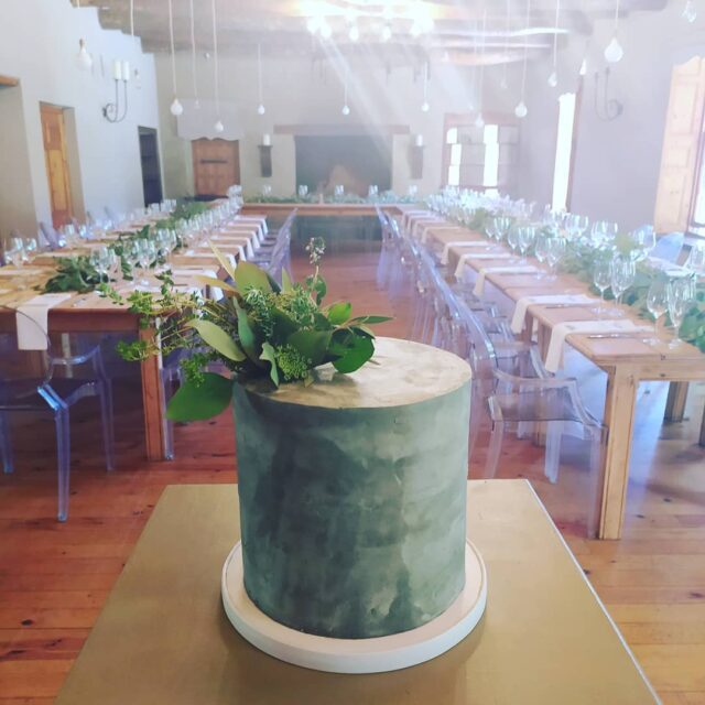 CONCRETE & GREENERY ... A beautiful wedding cake at @langkloofroses with our friends at @strawberryweddingsandevents  ... Wedding cakes don't have to be white guys - the designs and ideas are endless! I love this concrete look paired with fresh herbs from the garden! ... #weddingcakesofinstagram #weddingcakes #weddingcakedesign #weddingcake #weddingcakesbycrumb #weddingcakescapetown #cakeme #crumbcakes #cakesofinstagram #cakeittillyoumakeit