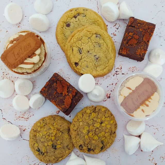 """BEST OF THE BEST"" TREAT BOX ... It's VEGANUARY, and hundreds & thousands of people have pledged to try a vegan/ plant based diet for the month of January - for the animals, for health, for sustainability and more 🌿🌿🌿 As most of you know we make some incredible vegan treats, and for the remainder of January we are offering this insanely delicious treat box featuring our personal favourites:  🌿🌿🌿 2 x Ginger cookie crumb brownies 2 x Spiced Biscoff cake pots 2 x Choc chunk cookies 2 x Oat & raisin cookies AND a bag of our insane aquafaba meringues 🌿🌿🌿 This is the perfect selection to share with non vegan peeps to show them just how delicious vegan treats actually are!!! 🌿🌿🌿 The box ""to share"", (or not!) costs R195 each with a small delivery fee. They are available on Friday's (22 & 29 Jan) and can be delivered all over the Cape Town area, or you can collect from us in Somerset West. (Note that we will confirm which date we will deliver on depending on your location) 🌿🌿🌿 To order: Email us your deets (cakeme@crumbcakes.co.za), and include your name & surname, delivery address and phone number. We will then send an invoice that you can pay via EFT or Snapscan 🌿🌿🌿 🌿🌿🌿 #veganbycrumb #crumbbyanmar #vegan #veganbaking #vegancapetown #vegansouthafrica #vegansofig #capetownvegan #plantbased #veganfoodshare  #bestofvegan #veganfood #whatveganseat #vegantreatbox"