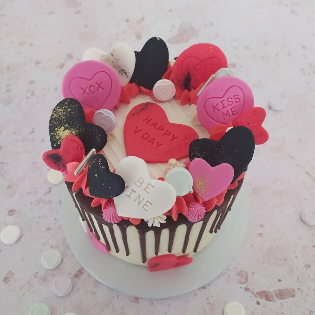 "OUR ""LOVE HEART"" INSPIRED COLLECTION 🖤🖤🖤 February is almost here and everyone deserves a big slice of love right about now!  Our 2021 Valentine's collection includes a whole range of delicious ""love heart"" inspired treats: 🖤🖤🖤 💖 Midi decadent dark chocolate cake layered with Belgian chocolate frosting  @ R375 (6"") 💖 Red velvet & pink champagne cupcakes @ R150 (Box of 6)  💖 3 x large ""love heart"" cookies @ R95 (Words are customizable on these) 🖤🖤🖤 Email us directly to place your order. Please include your full name & surname, email address, contact number and delivery address in your email - Cape Town and surrounds only. Orders close on Thu 11 Feb '21. 🖤🖤🖤 Deliveries: We will confirm when your delivery will take place once you have paid for your order - it is dependent on where you are based. Collections from our HQ in Somerset West on 13 Feb between 16:00 and 18:00, or in the morning of 14 Feb only.  🖤🖤🖤 #valentinesday #valentinestreats #valentinesday2021 #loveheart #crumbcakes #cakeme #crumbcakes #sweettreats #cakes #celebrationcakes #cakes #cotd #cakeoftheday #instacake #cakesofinstagram #cakesofig @lovehearts_uk"