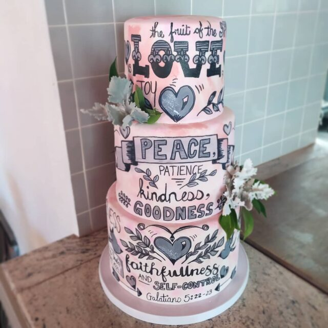 HAND DRAWN SCRIPTURES 🖌️🖌️🖌️ This showstopping wedding cake went to the gorgeous @audehexestate yesterday. The watercolour stained fondant had hand drawn scriptures from top to bottom - all drawn with an edible ink pen and a touch of grey colour dust paint 🖌️🖌️🖌️ The inside consisted of our insane vegan dark chocolate cake with coconut milk ganache and Belgian chocolate buttercream  🖌️🖌️🖌️ Would love to do this one in a rock 'n roll or heavy metal lyrics!?! Any takers?? 🖌️🖌️🖌️ #crumb #crumbcakes #cakeme #cakedecorator #weddingcakesofinstagram #cakeoftheday #weddingcakes #weddingcakedesign #cakesbycrumb #chocolatecake #veganweddingcake #cakesofig #cake #bibleverse