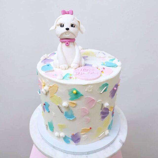 The cutest ever chocolate birthday cake with a Maltese puppy on the top ... This cool rainbow inspired cake went to a birthday party at the @rollercadeza at the Waterfront over the weekend ... More cute pet cakes please ... ... #crumb #crumbcakes #cakes #celebrationcake #celebrationcakes #maltesepuppy #birthdaycake #birthday🎂 #cake #cakeme #crumbbyanmar #chocolatecake