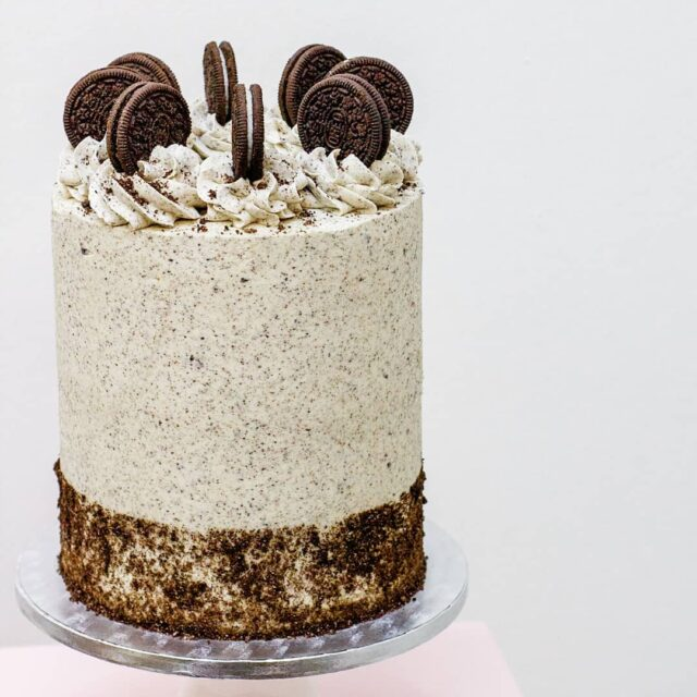Cookies & Creme ... How delicious does this Oreo Cake look?!? ... Layers of chocolate cake with creamy vanilla frosting, covered in Oreo crumb buttercream and topped with Oreos!  ... Delicious. Available in a vegan version too!  ... Serves up to 16 R680 ... #cakes #celebrationcake #celebratiocakes #oreo #oreocake #oreos #crumb #crumbcakes #cake #cakeoftheday #cakesbycrumb @oreo @oreo_southafrica